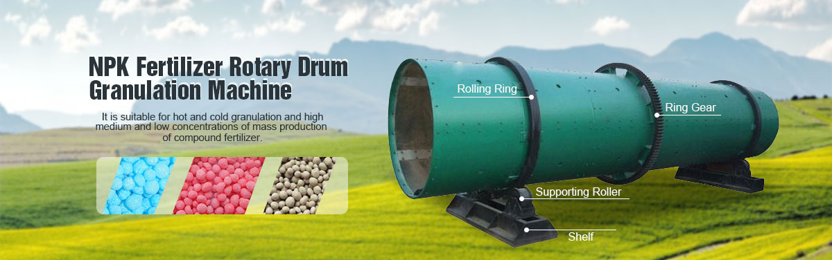 NPK Fertilizer Rotary Drum Granultion Machine