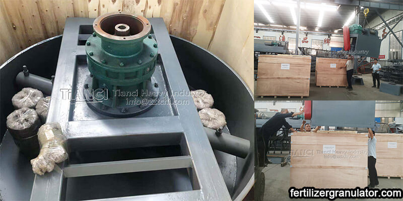 Double roller fertilizer granulator to Turkey