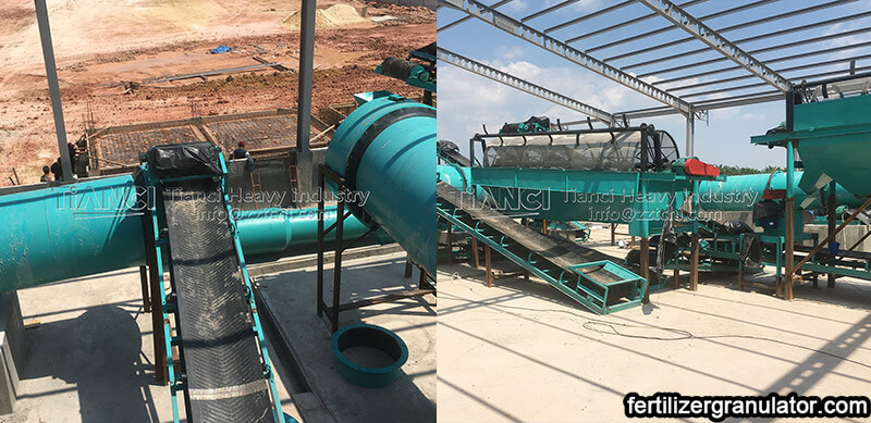 installation site of fertilizer production line equipment