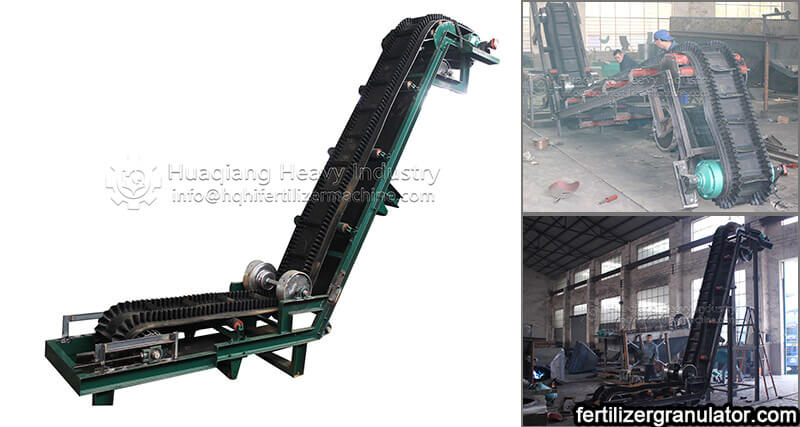 large inclined belt conveyor