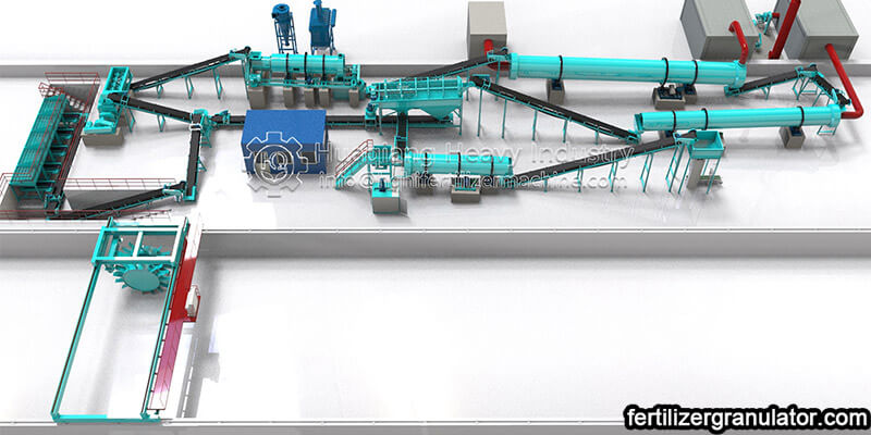 annual output of 5000 tons of organic fertilizer production line equipment