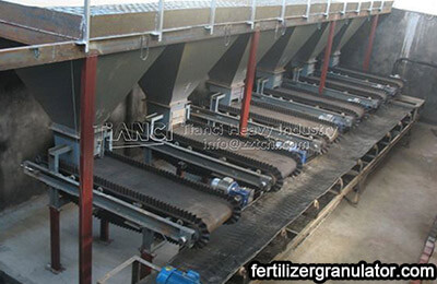 automatic batching system of fertilizer production line
