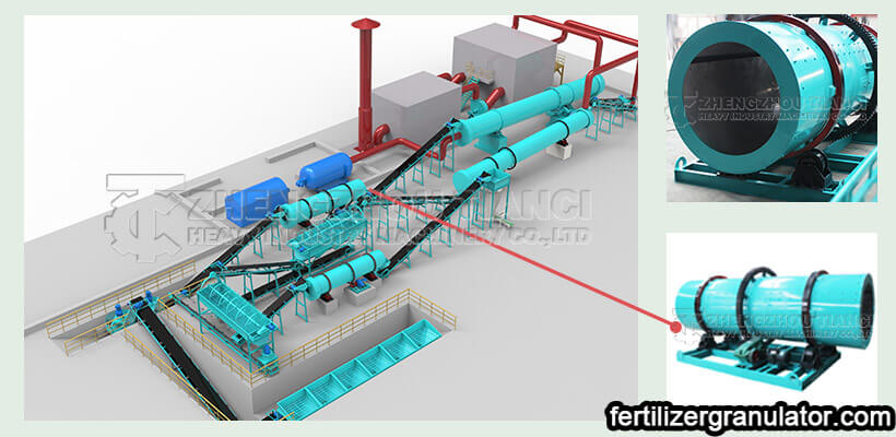 rotary drum granulator of npk fertilizer production line