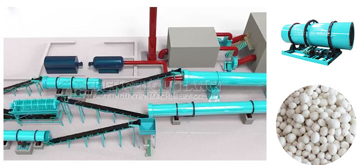 NPK compound fertilizer drum granulation line