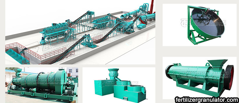 fertilizer granulator for organic fertilizer production equipment