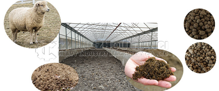 sheep manure organic fertilizer production line