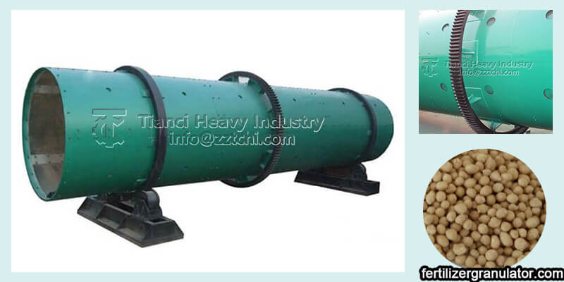 Slow release fertilizer rotary drum granulator