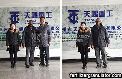Customer visit fertilizer equipment
