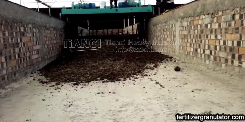 organic fertilizer powder production line site