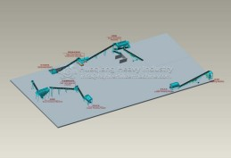 Roller granulator fertilizer production equipment shipped to Nigeria