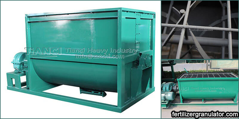 Outstanding industrial horizontal mixer for fertilizer manufacturing