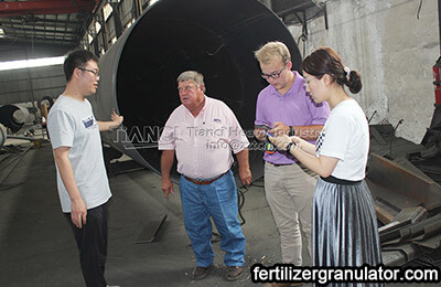 American clients visit fertilizer equipment