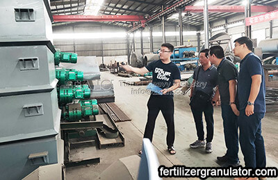Cambodian Clients Visit Biofertilizer Production Equipment